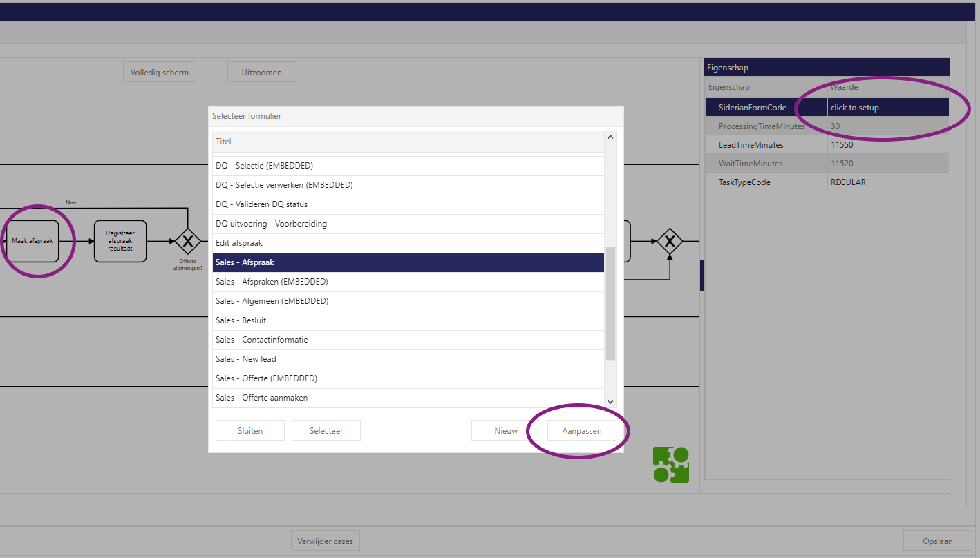 Siderian Cloud bpmn and forms