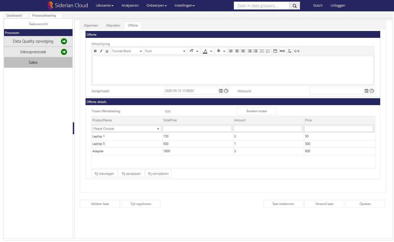 Siderian Cloud BPM - Digitaliseren met flexibele formulieren
